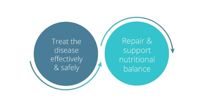 Treat the disease effectively & safely | Repair & support nutritional balance
